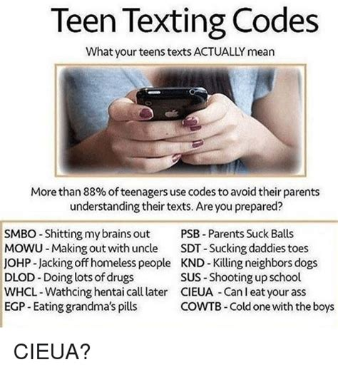 Sneaky teen texting codes what parents need to know png 500x551